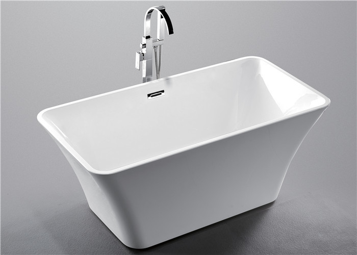 1 Person Square Freestanding Bathtub With Central Drain 1700 * 800 * 600mm