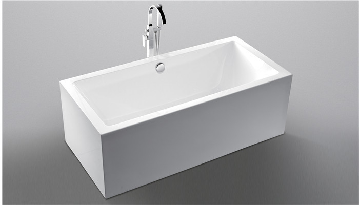 Indoor Freestanding Corner Tub , Acrylic Stand Alone Bathtubs With Overflow
