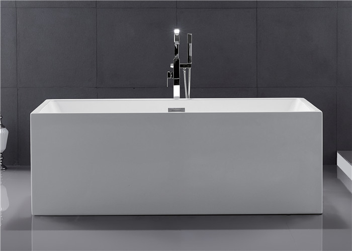 Seamless PMMA Acrylic Free Standing Bathtub Portable High Water Capacity