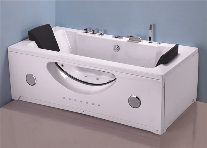 Innovative Technology Stand Alone Jetted Tub , 6 Foot Whirlpool Tubs For Small Bathrooms