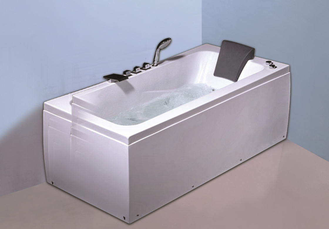 6 Big Water Jets Bubble Bath Jetted Tub , Heated Whirlpool Tub With SS Frame