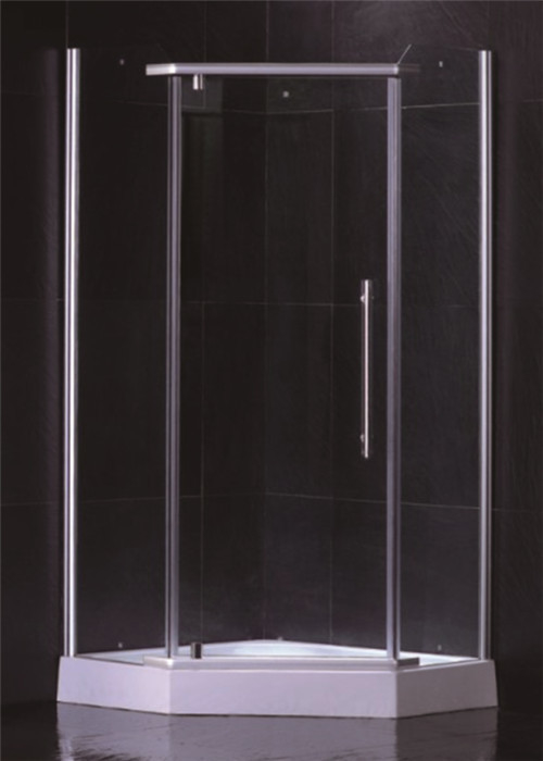 Frameless Glass Shower Cabin For Home Diamond Shape Hinge Open Style