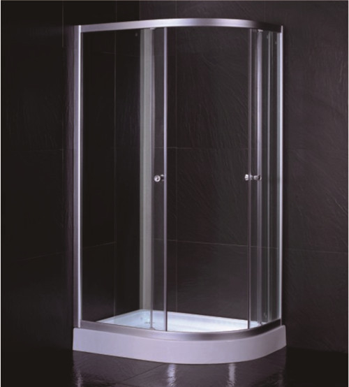 Oval Shape 1000 X 800 Quadrant Shower Enclosures And Tray With Low Resin Tray