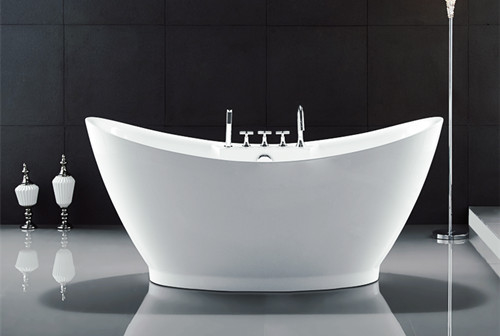 Curved Half Egg Shaped Freestanding Bath Tubs , 1700X800 Bathroom Freestanding Tubs