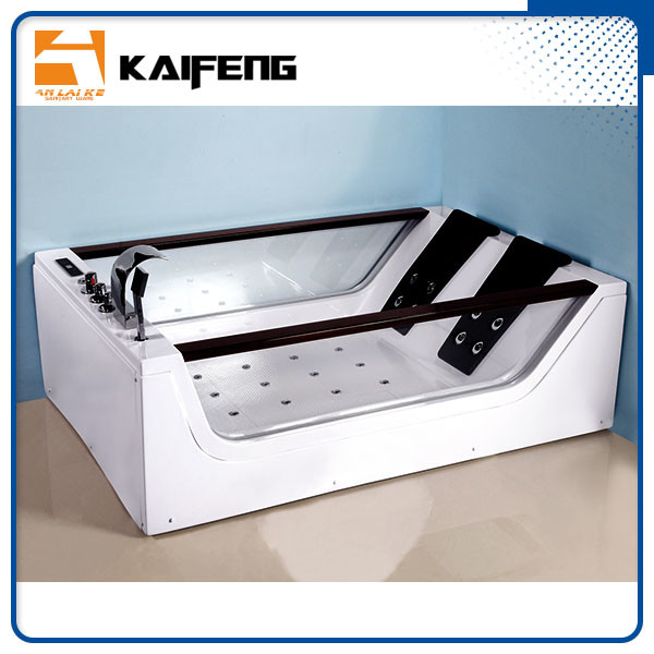 Double Glass Apron Jacuzzi Whirlpool Bath Tub With Air Switch Control