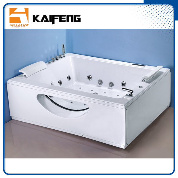 T Shape Inlet Electric Jacuzzi Whirlpool Bath Tub With Air Bubble Water Jets