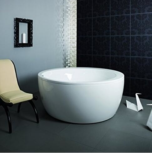 Eco - friendly Freestanding Round Tub / Deep Bathtubs For Small Bathrooms
