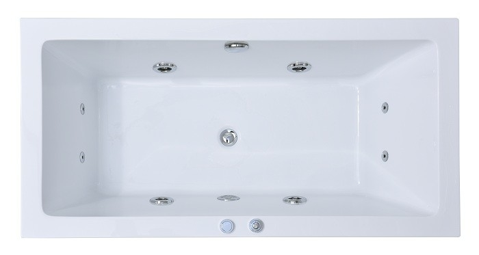 59x29.5 Inch Rectangle Luxury Jacuzzi Whirlpool Bath Tub / Stand Alone Jetted Tub
